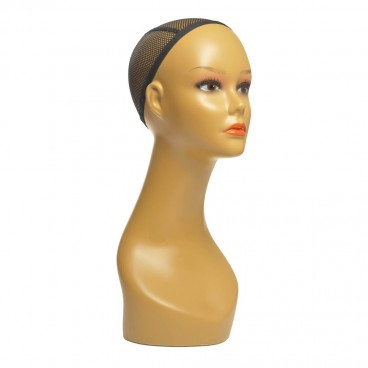 Female Mannequin Head for Wigs, Hats, Sunglasses Jewelry Display