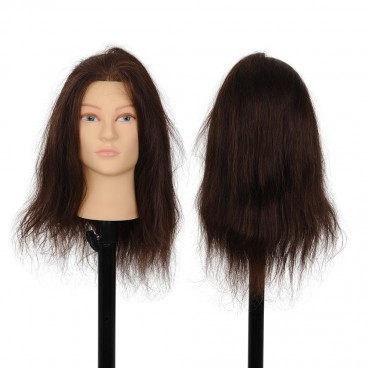 Synthetic Hair Female Mannequin Head Training Head Styling Cosmetology