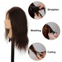 Real Hair Female Mannequin Head Training Head Styling Cosmetology