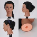 Mixed Hair Female Mannequin Head Training Head Styling Cosmetology
