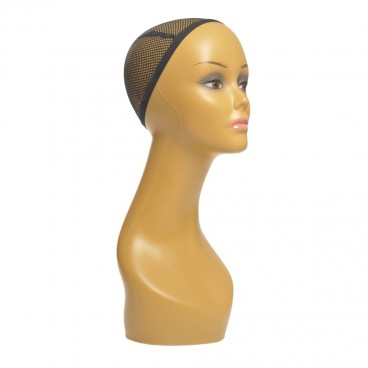 Female Mannequin Head for Wigs, Hats, Sunglasses Jewelry Displaying PE