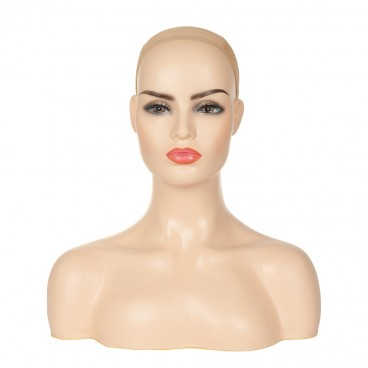 Manikin Head Realistic Mannequin Head Bust Wig Head Stand for Wigs Display Making Styling