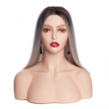PVC Realistic Mannequin Head Bust Wig Head Stand for Wigs Display Making Styling