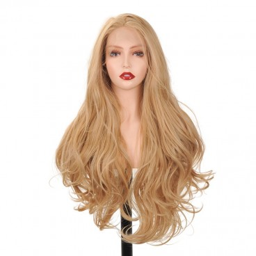 Blonde Wavy Lace Front Wigs for Women 26 Inch