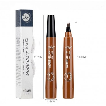 Waterproof eyebrow pencil, composed of micro-fork applicator