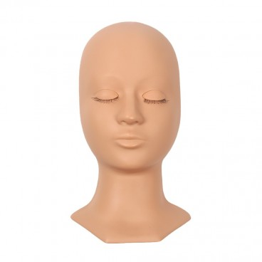 Eyebrow Eyelash Mannequin Training Head,Rubber Practice Training Head