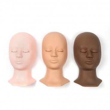 Eyebrow Eyelash Mannequin Training Head Rubber Practice Training Head