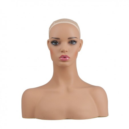realistic mannequin head with shoulder