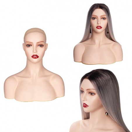 white female display mannequin head for displaying wigs