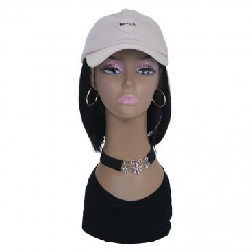 Tan Mannequin Head Models (4 pack) for Displaying Wigs Jewelries