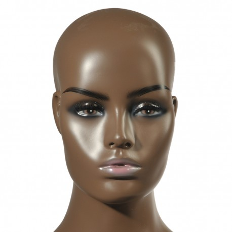 FRP Realistic Mannequin Head Bust Wig Head Stand for Wigs Display Making Styling