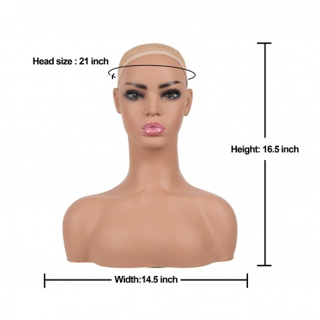 Mannequin Head Model Stand Realistic Mannequin Head Bust Wig Heads