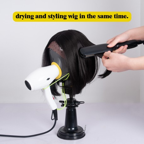 Fresh Wigs Head Drying Unit For Lace Wig Scalp Cap Net (Black)