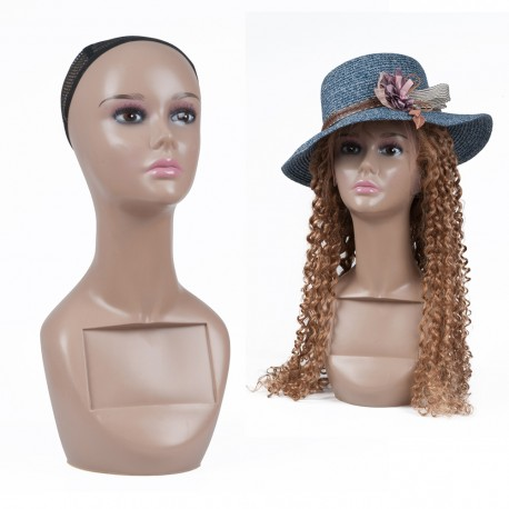 High Female Life Size Mannequin Head for Wigs, Hats, Sunglasses Jewelry Display Style